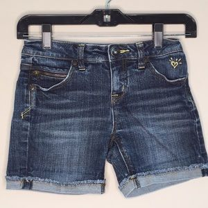Justice Denim Shorts Size 10R Rollen hem